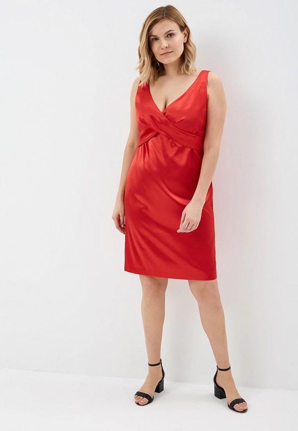 Фото 2 - Женское платье Galina Vasilyeva красного цвета