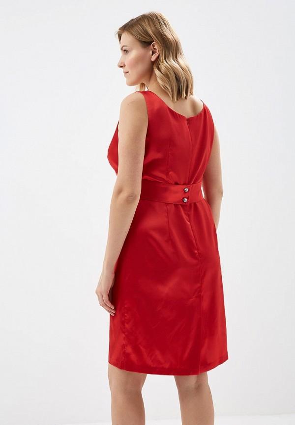 Фото 3 - Женское платье Galina Vasilyeva красного цвета