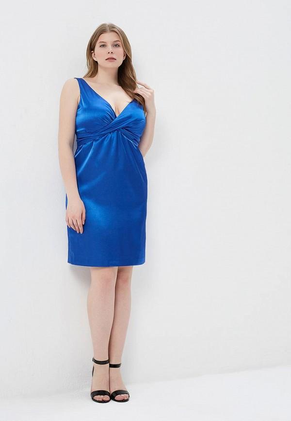Фото 2 - Женское платье Galina Vasilyeva синего цвета