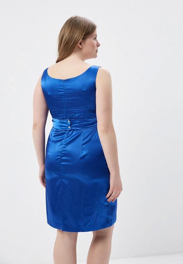 Фото 3 - Женское платье Galina Vasilyeva синего цвета