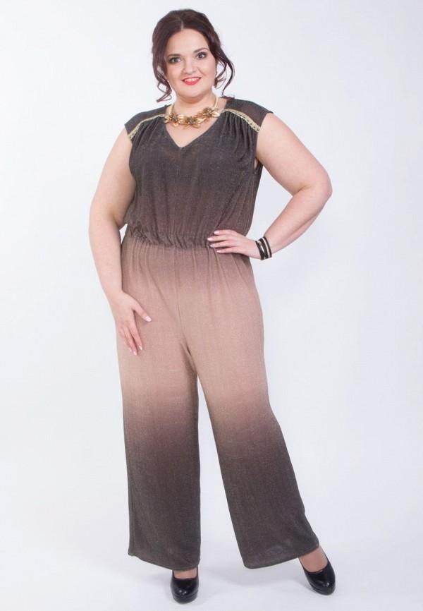 Купить женский комбинезон Wisell коричневого цвета