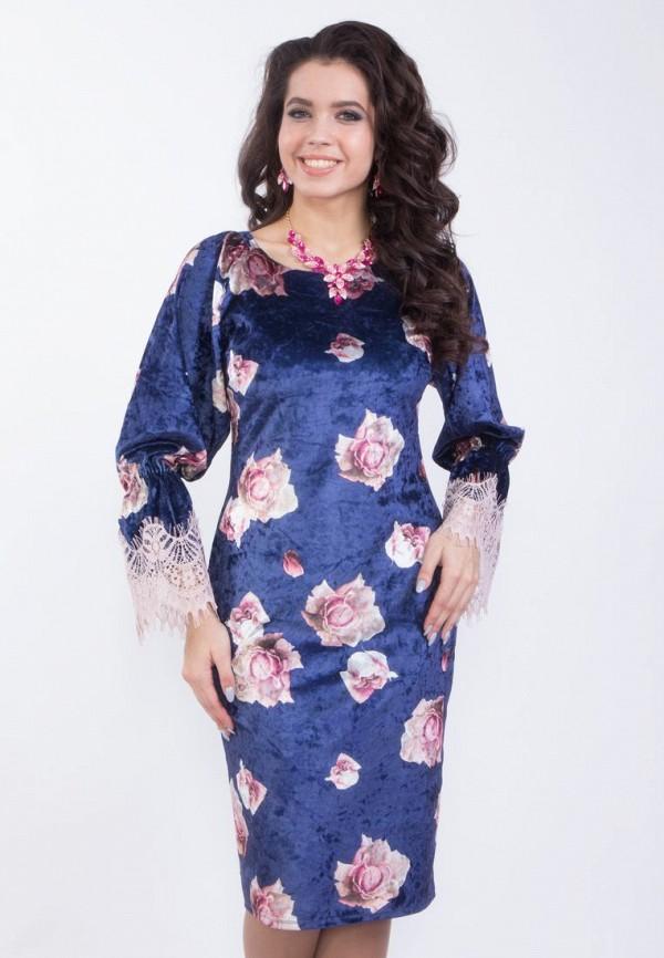 Купить женское платье Wisell синего цвета