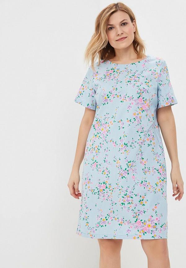 женское повседневные платье olsi, голубое