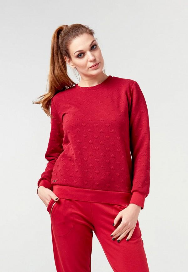 женский свитшот ora, красный