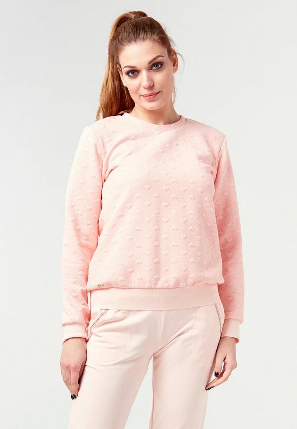 женский свитшот ora, розовый