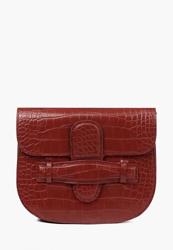 женская сумка через плечо portal, коричневая