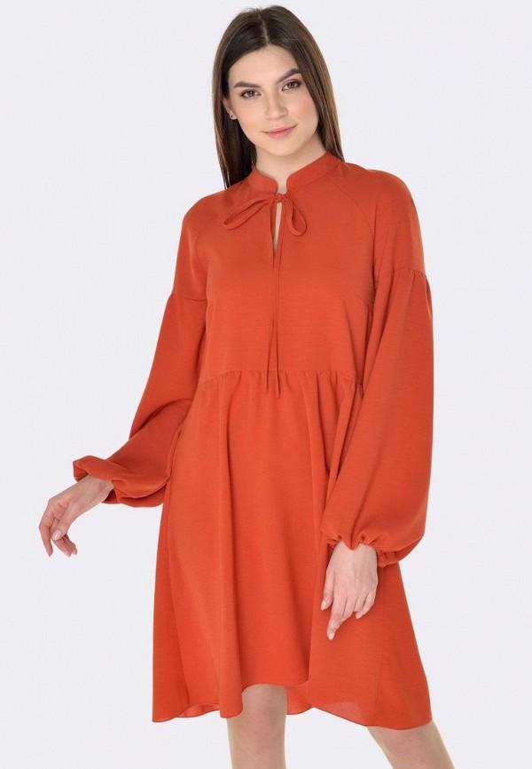 женское повседневные платье cat orange, оранжевое