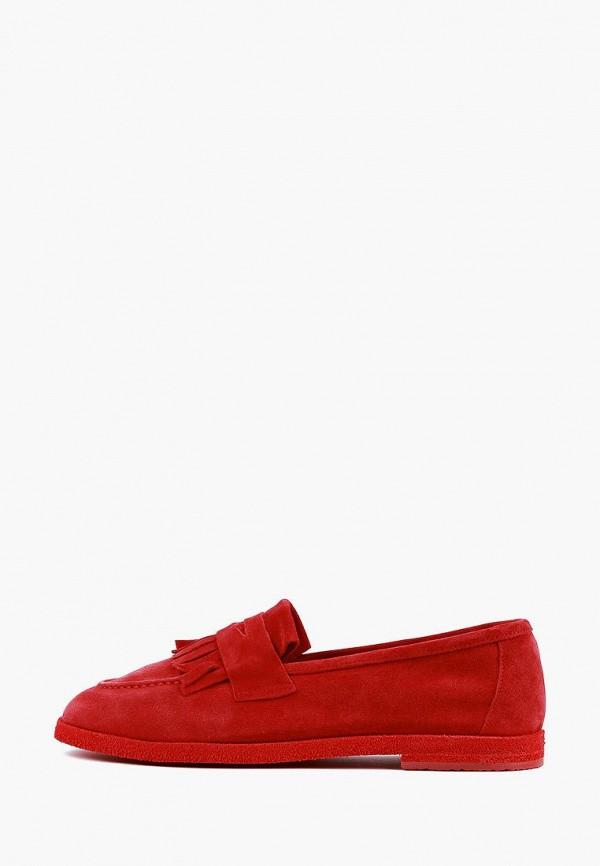 женские лоферы leberdes, красные