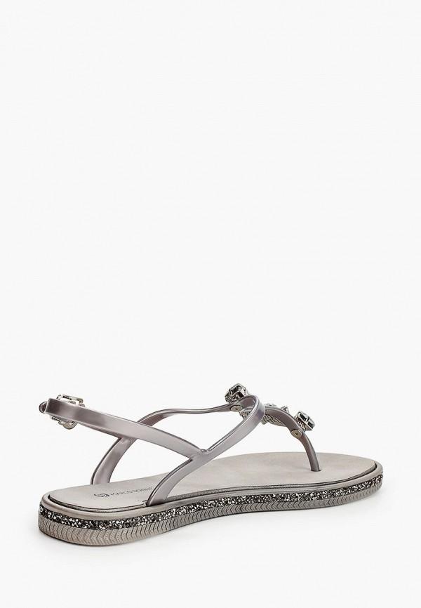 Сандалии Marco Bonne` цвет серебряный  Фото 3