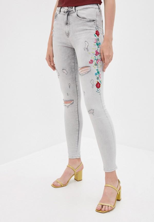 женские джинсы скинни whitney, серые