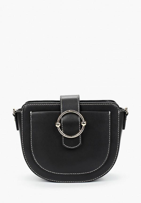 женская сумка через плечо claudie pierlot, черная