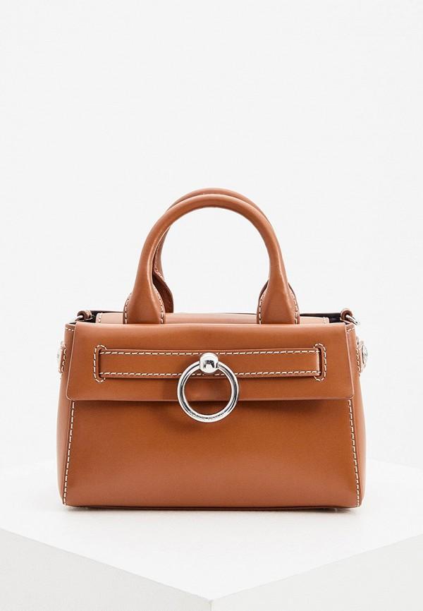 женская сумка с ручками claudie pierlot, коричневая