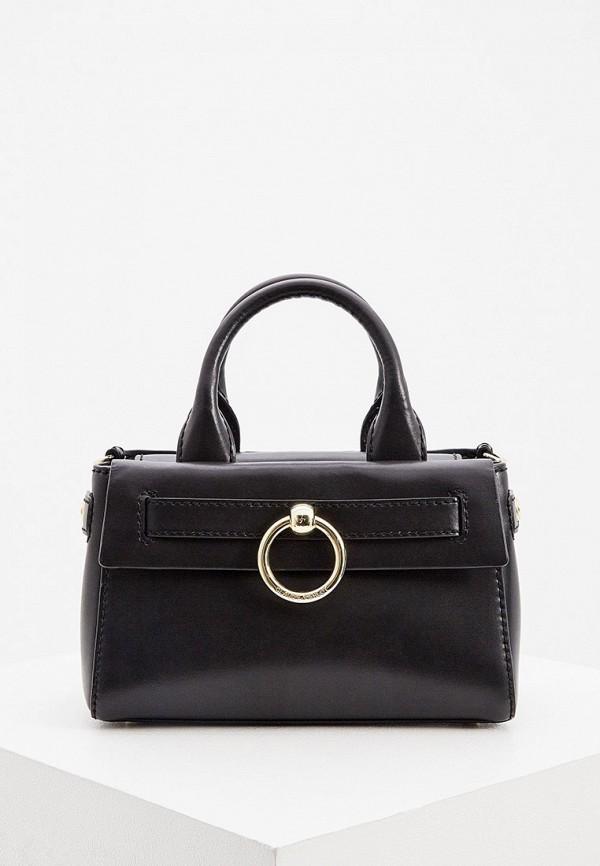 женская сумка с ручками claudie pierlot, черная