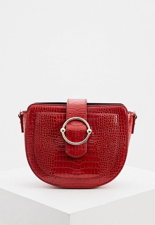женская сумка через плечо claudie pierlot, красная