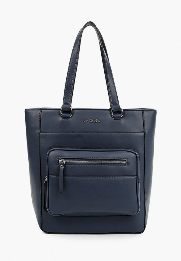женская сумка с ручками jane shilton, синяя