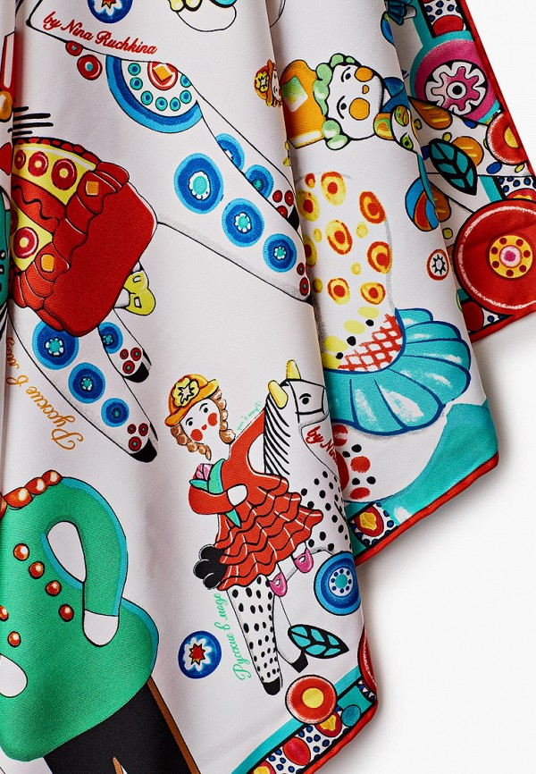 Платок Русские в моде цвет белый  Фото 2
