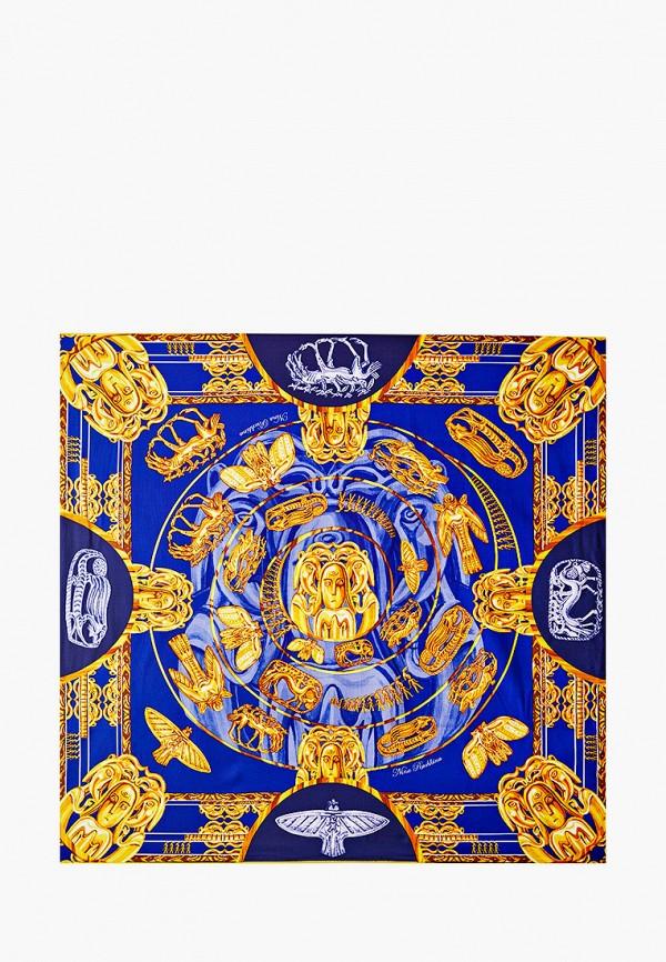 Платок Русские в моде цвет синий