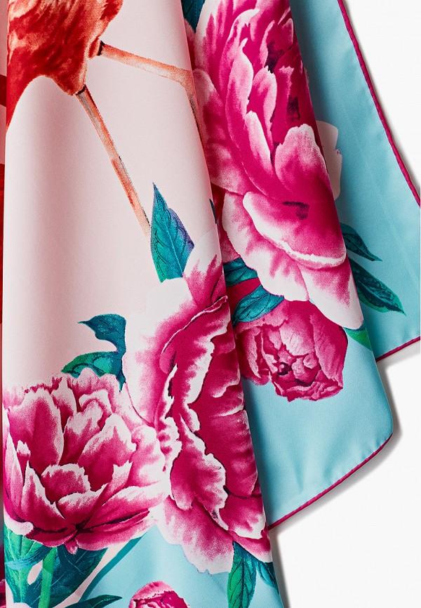 Платок Русские в моде цвет бирюзовый  Фото 2