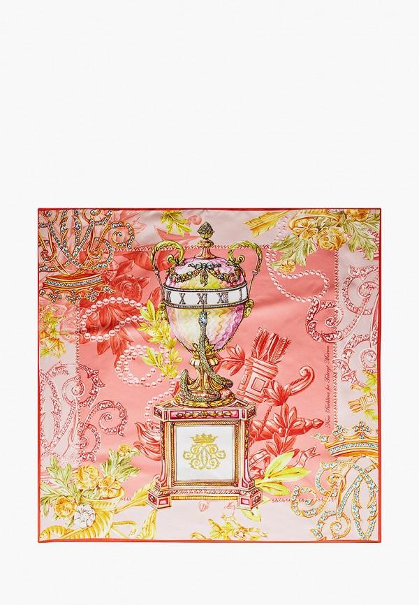 Платок Русские в моде цвет розовый