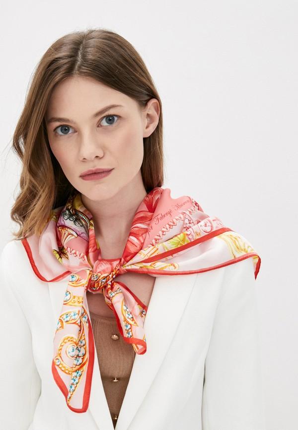 Платок Русские в моде цвет розовый  Фото 3