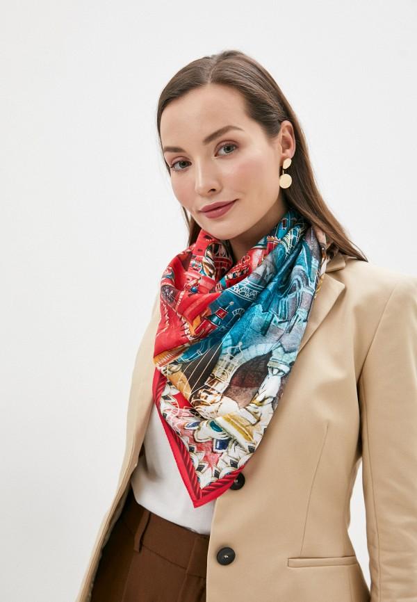 Платок Русские в моде цвет красный  Фото 3