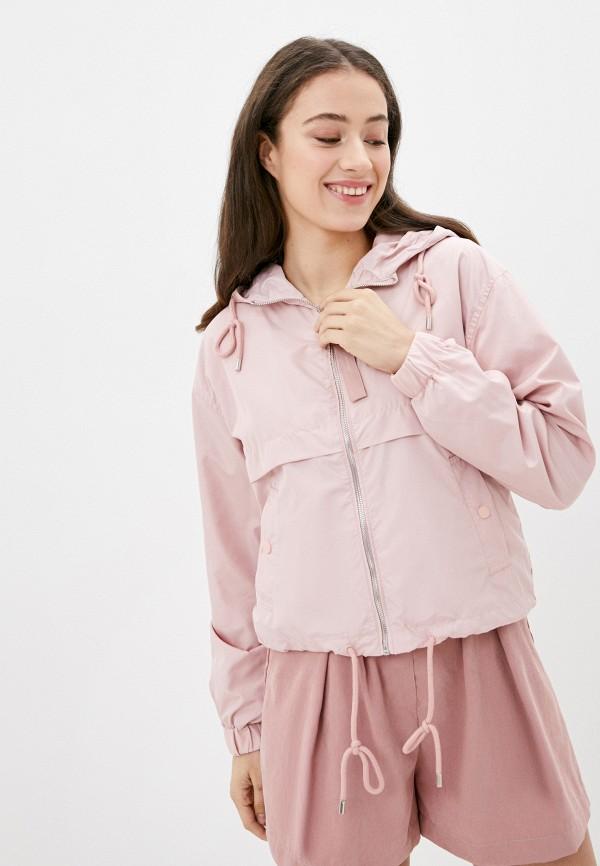 женская куртка befree, розовая