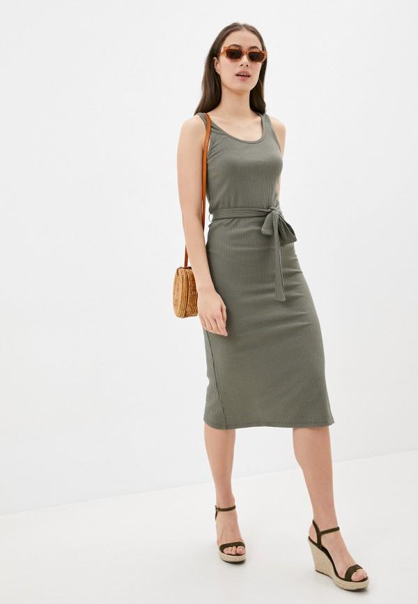 женское повседневные платье befree, хаки