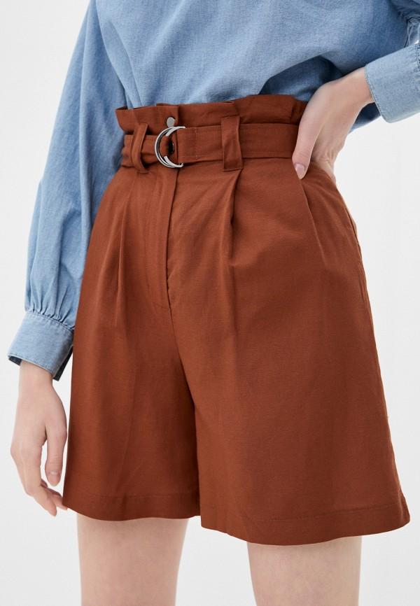женские повседневные шорты zarina, коричневые