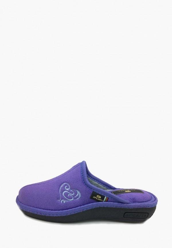 женские тапочки spesita, фиолетовые