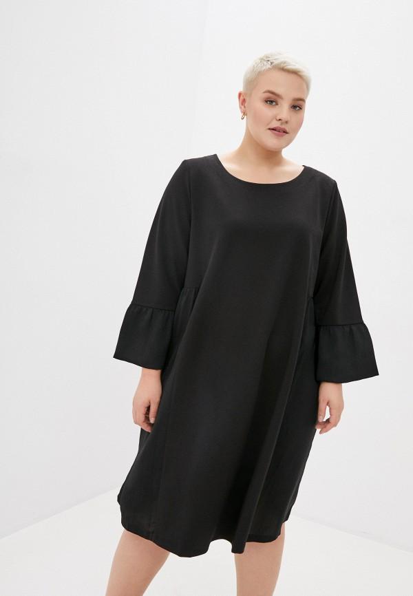 женское повседневные платье silver string, черное