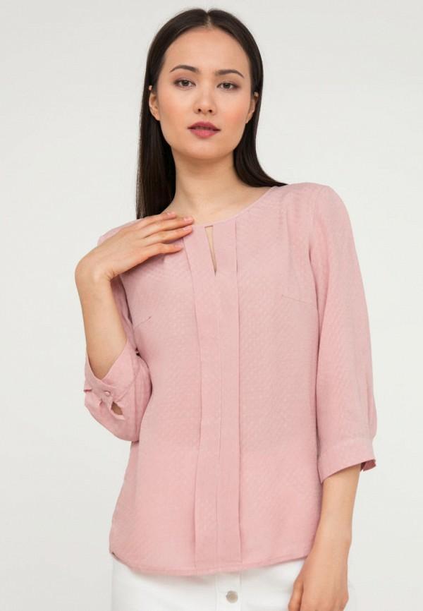 женская блузка с длинным рукавом finn flare, розовая