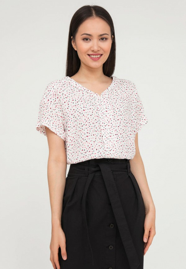 женская блузка с коротким рукавом finn flare, белая
