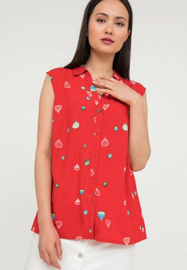 женская блузка без рукавов finn flare, красная