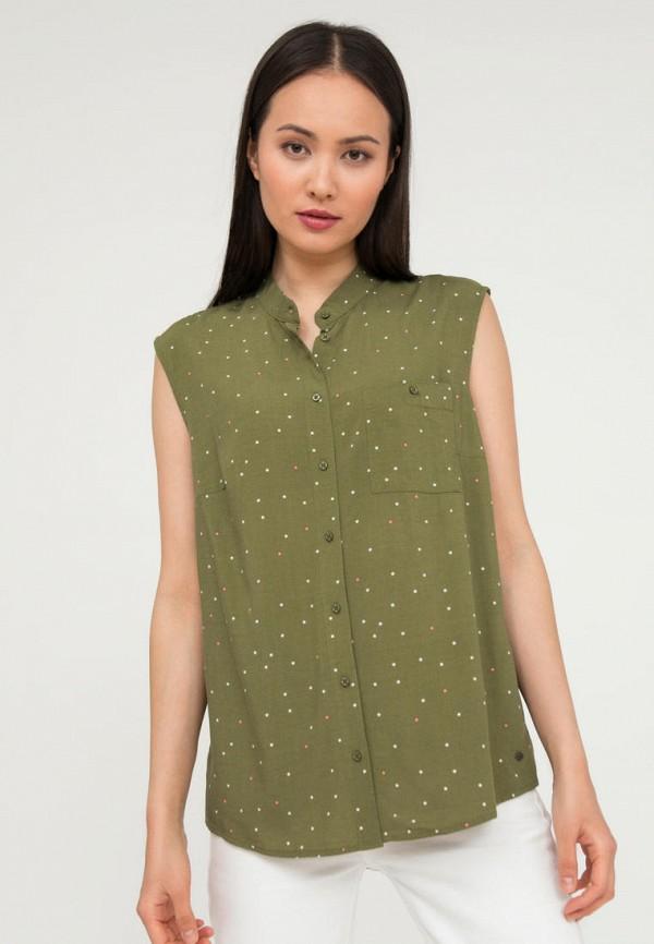 женская блузка без рукавов finn flare, хаки
