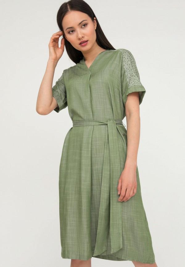 женское повседневные платье finn flare, зеленое