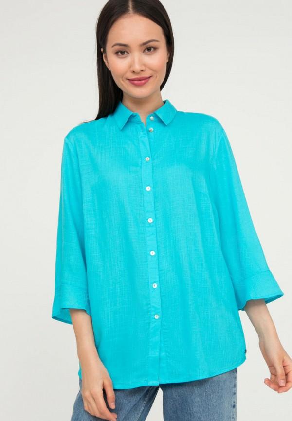 женская блузка с длинным рукавом finn flare, голубая