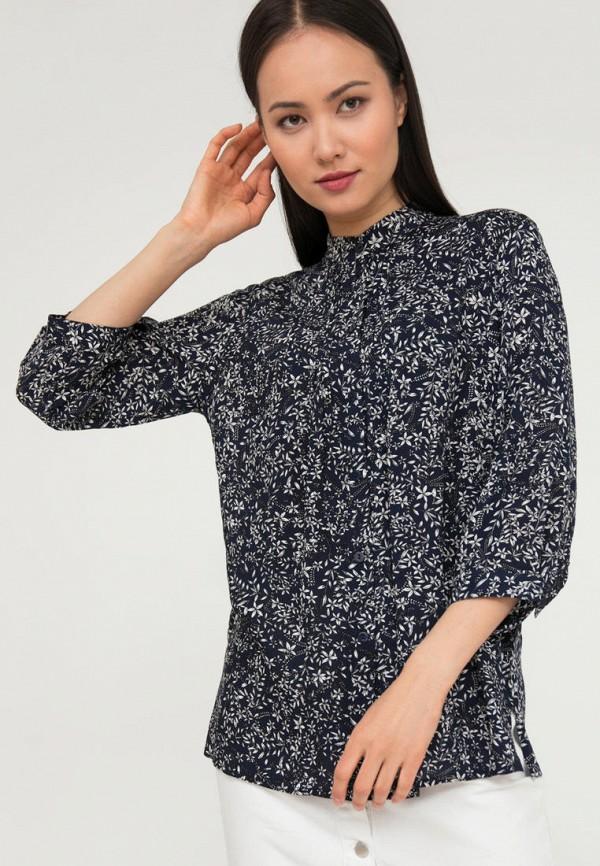 женская блузка с длинным рукавом finn flare, синяя