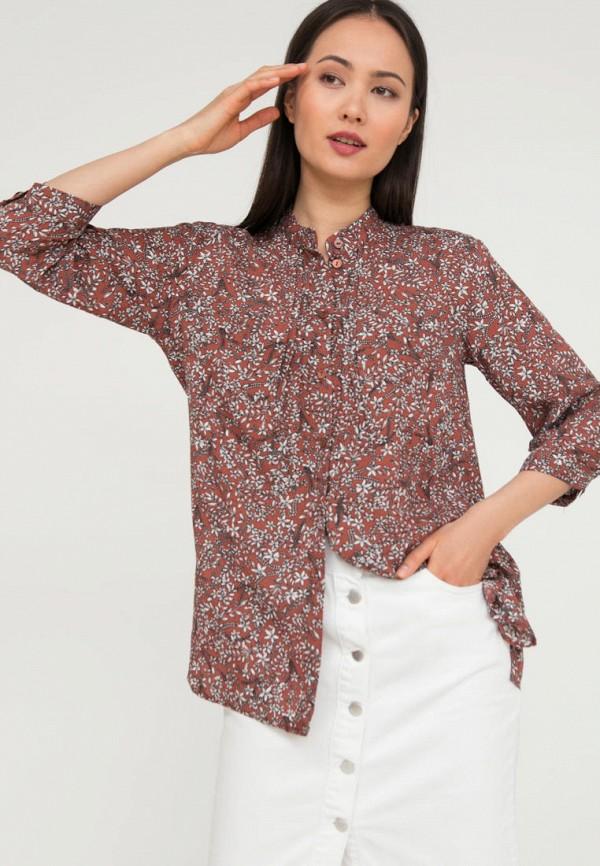 женская блузка с длинным рукавом finn flare, красная