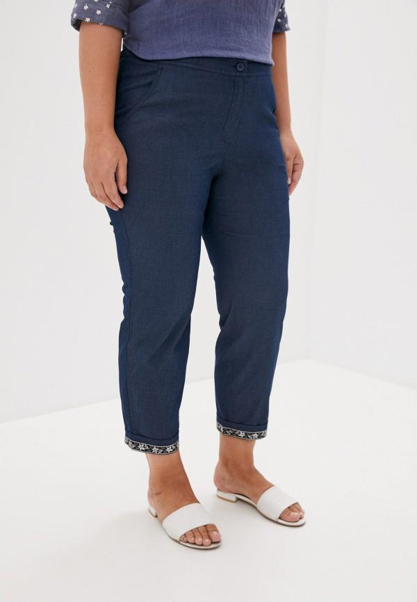 женские повседневные брюки silver string, синие