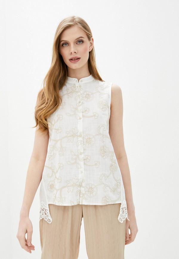 женская блузка без рукавов intimissimi, белая