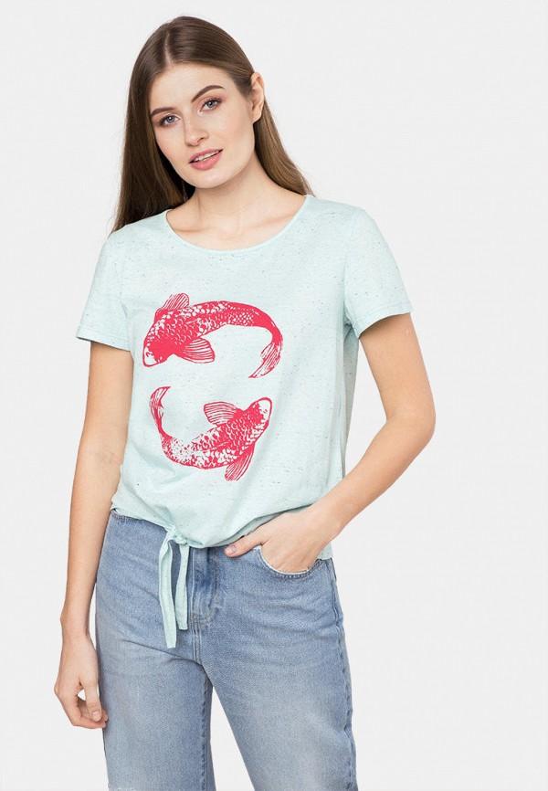 женская футболка mr520, голубая
