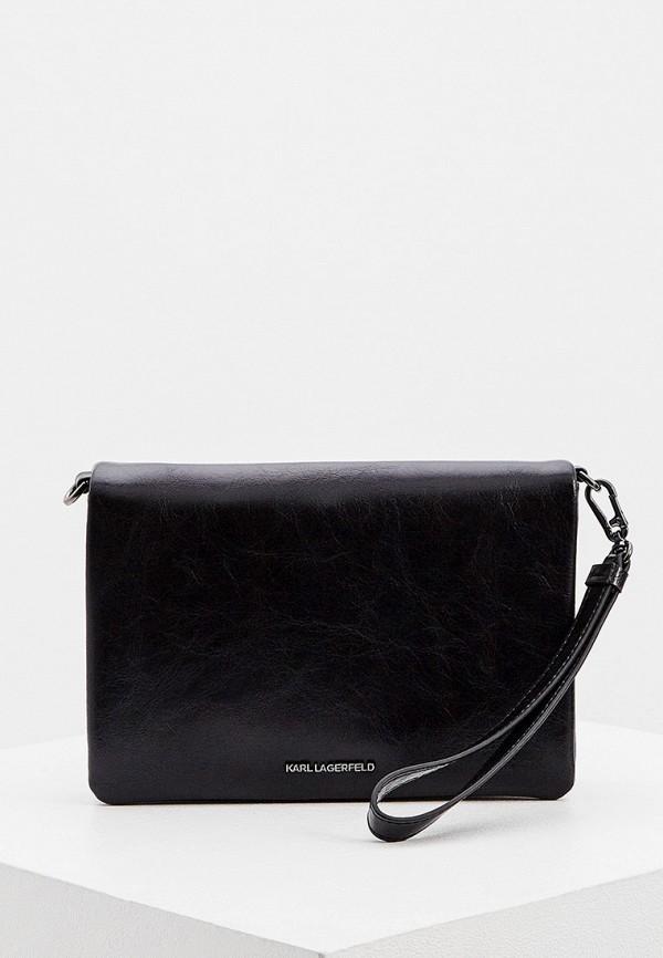 женская сумка через плечо karl lagerfeld, черная