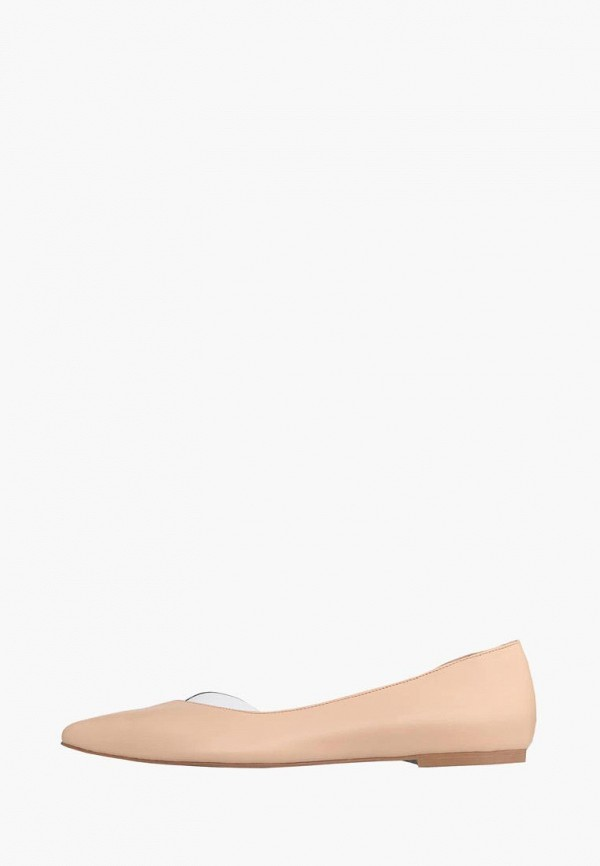 женские балетки lookie, бежевые