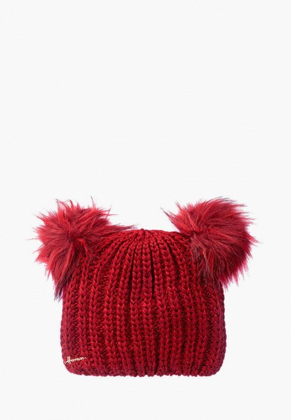 Шапка Herman цвет красный