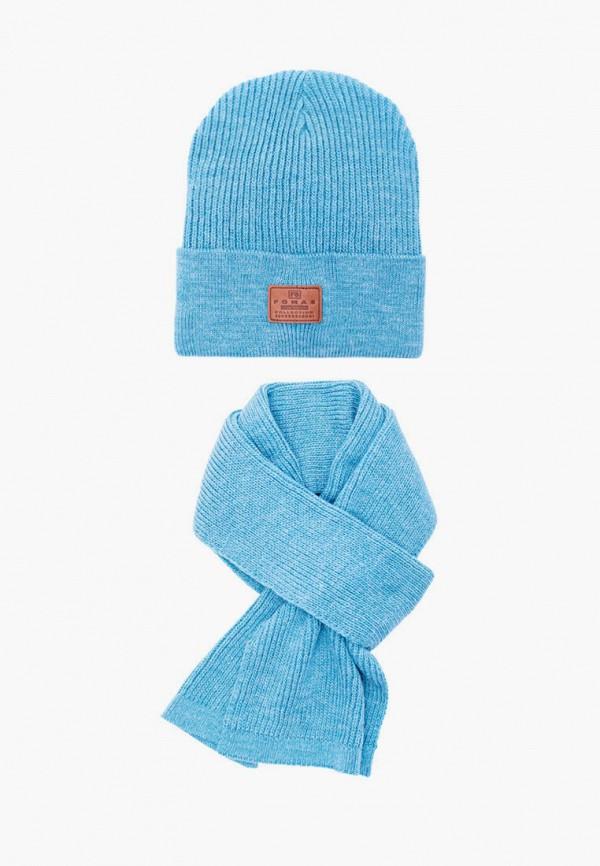 женский шарф fomas, голубой
