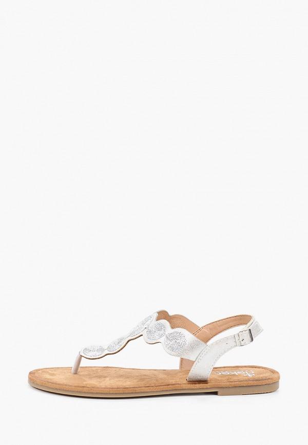 женские сандалии rieker, серые