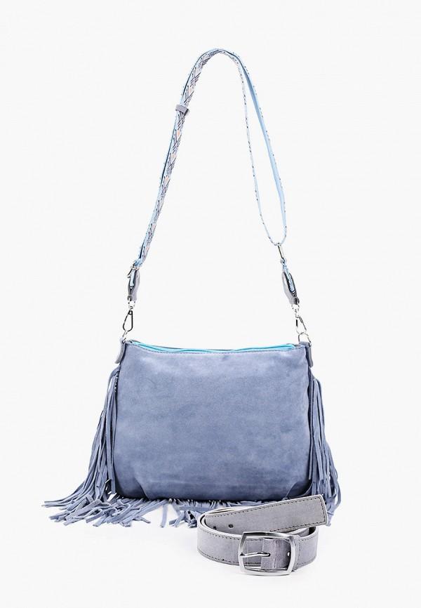 женская сумка через плечо olio rosti, голубая