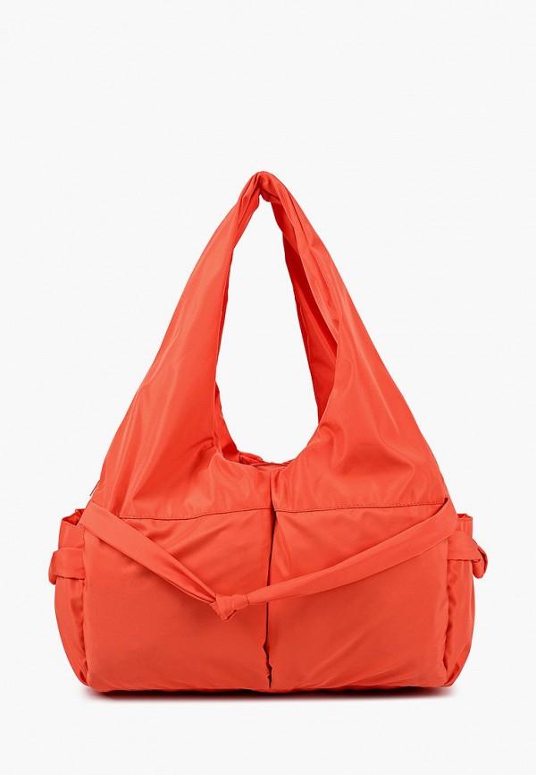 женская сумка с ручками antan, оранжевая
