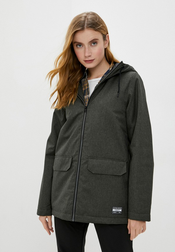 женская спортивные куртка termit, зеленая