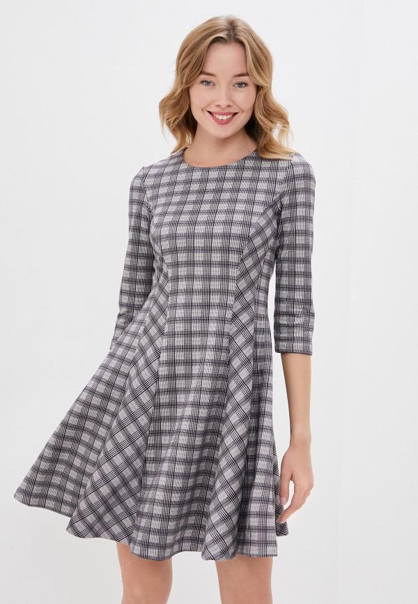 женское повседневные платье viserdi, серое